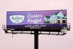 Keller Golf Course Easter Brunch Digital Billboard