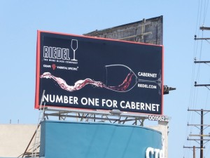 riedel cabernet wine glass billboard