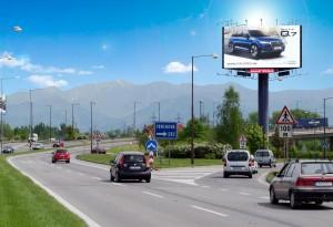 megaboard zilina - smer Bratislava, Košice